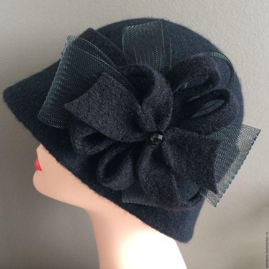 """Шляпы ручной работы. Ярмарка Мастеров - ручная работа. Купить Шляпка с повязкой и брошкой """" 3 в 1"""". Handmade. винтаж"""
