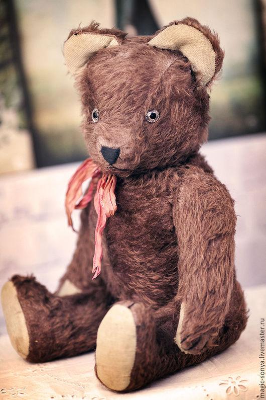 Винтажные куклы и игрушки. Ярмарка Мастеров - ручная работа. Купить Винтажный коллекционный медведь Тедди 1940-50. Handmade. Коричневый
