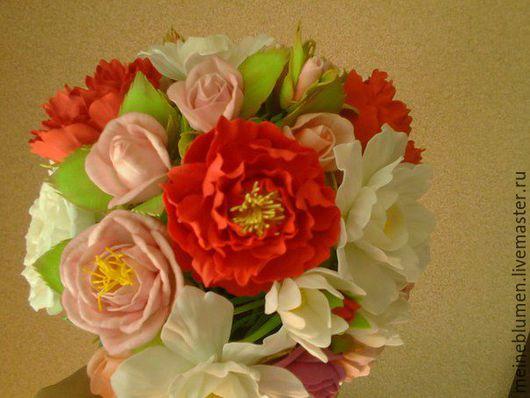 Цветы ручной работы. Ярмарка Мастеров - ручная работа. Купить букет невесты. Handmade. Заколка для волос, ободок для волос