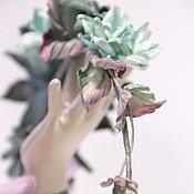 """Венок для прически - """"Stone Roses"""" - цветы ручной работы"""