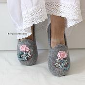 """Обувь ручной работы. Ярмарка Мастеров - ручная работа """"Доброе утро"""" лоферы валяные. Handmade."""