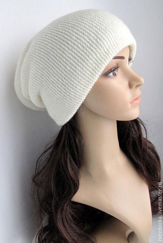 """Шапки ручной работы. Ярмарка Мастеров - ручная работа. Купить шапка """"Galaxy"""" светлая. Handmade. Белый, теплая шапка, меринос"""