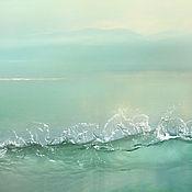 """Картины и панно ручной работы. Ярмарка Мастеров - ручная работа Фотокартина природа море, пейзаж с водой дзен """"Всплеск тишины"""". Handmade."""