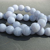 Материалы для творчества handmade. Livemaster - original item Blue agate beads smooth ball, ,8 mm. Handmade.