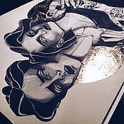 Картины и панно ручной работы. Ярмарка Мастеров - ручная работа One of us. Handmade.