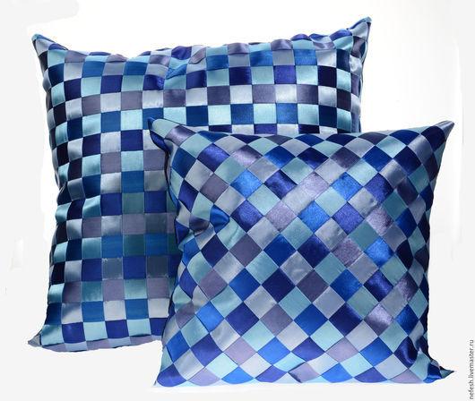 Текстиль, ковры ручной работы. Ярмарка Мастеров - ручная работа. Купить Декоративная подушка Интерьерная подушка Синий купить в подарок. Handmade.