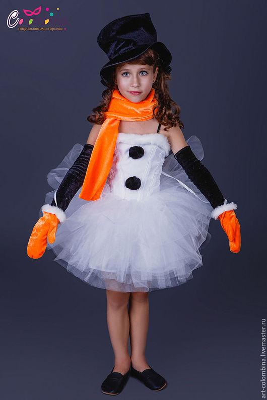 Детские карнавальные костюмы ручной работы. Ярмарка Мастеров - ручная работа. Купить Костюм снеговичка. Handmade. Белый, велюр
