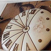 Для дома и интерьера ручной работы. Ярмарка Мастеров - ручная работа Часы 50 см кожаные кремовые Флорентийские Голуби. Handmade.