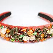 """Украшения handmade. Livemaster - original item Ободок для волос """"Осень - рыжая лисица"""" в стиле D&G. Handmade."""