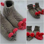 Работы для детей, ручной работы. Ярмарка Мастеров - ручная работа Мышки-сплюшки - носочки домашние. Handmade.