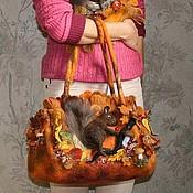 """Сумки и аксессуары ручной работы. Ярмарка Мастеров - ручная работа по мотивам работы """"белки"""". Handmade."""