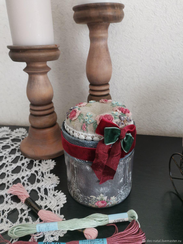Шкатулка игольница с вышивкой, Шкатулки, Северное,  Фото №1
