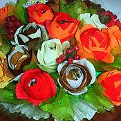 """Цветы и флористика ручной работы. Ярмарка Мастеров - ручная работа Букет из конфет """"Осенний букет"""" 3. Handmade."""
