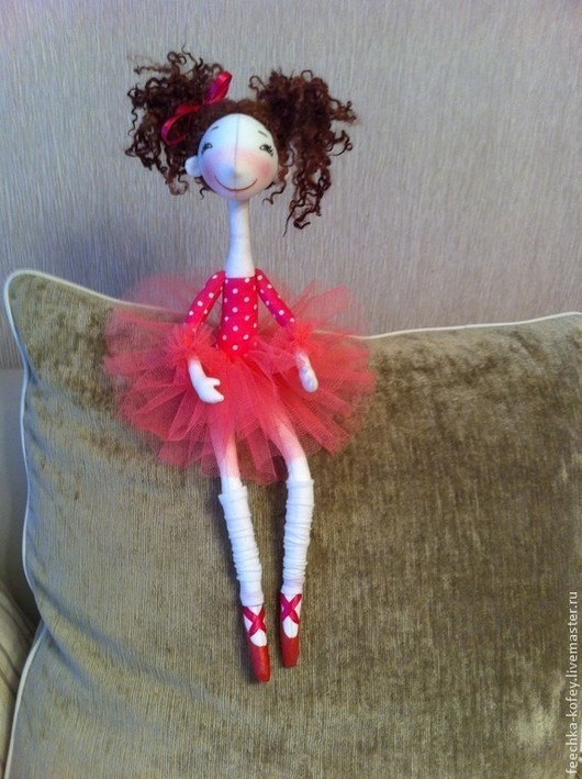 Коллекционные куклы ручной работы. Ярмарка Мастеров - ручная работа. Купить Кукла Балерина. Handmade. Текстильная кукла, кукла в подарок