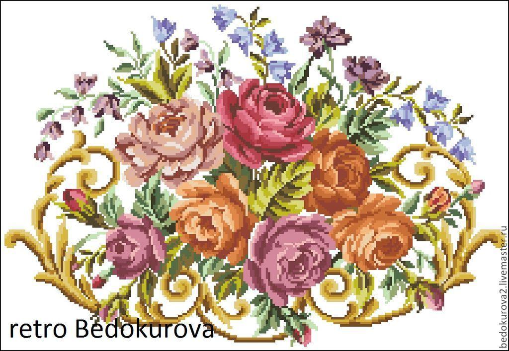Купить Ретро схема Цветочное