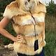 Меховая жилетка из светлой сибирской лисы, с плечиками, поперечный пошив на замше, очень красивый и мягкий) длина 60-65 см, на талии скрытая кулиска, пошив данной модели по меркам под заказ, срок поши