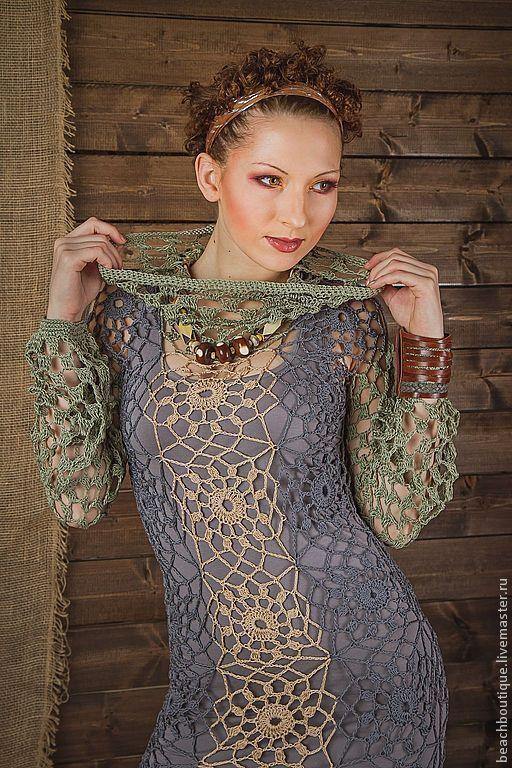 """Платья ручной работы. Ярмарка Мастеров - ручная работа. Купить Платье """"Бохо 2"""". Handmade. Платье, серый"""