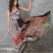 Одежда ручной работы. Ярмарка Мастеров - ручная работа Вечернее платье из шелка для выпускного. Handmade.