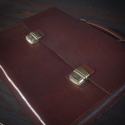 Мужские сумки ручной работы. Ярмарка Мастеров - ручная работа. Купить Кожаный портфель ручной работы. Handmade. Авторский портфель
