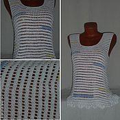 Одежда ручной работы. Ярмарка Мастеров - ручная работа Топ Цветные штрихи. Handmade.