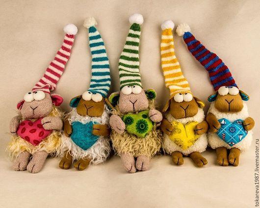 Игрушки животные, ручной работы. Ярмарка Мастеров - ручная работа. Купить Овечка. Handmade. Желтый, овечка игрушка, интерьерная игрушка