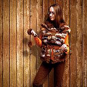 Одежда ручной работы. Ярмарка Мастеров - ручная работа Меховой жилет из песца  «Радужный меланж». Handmade.
