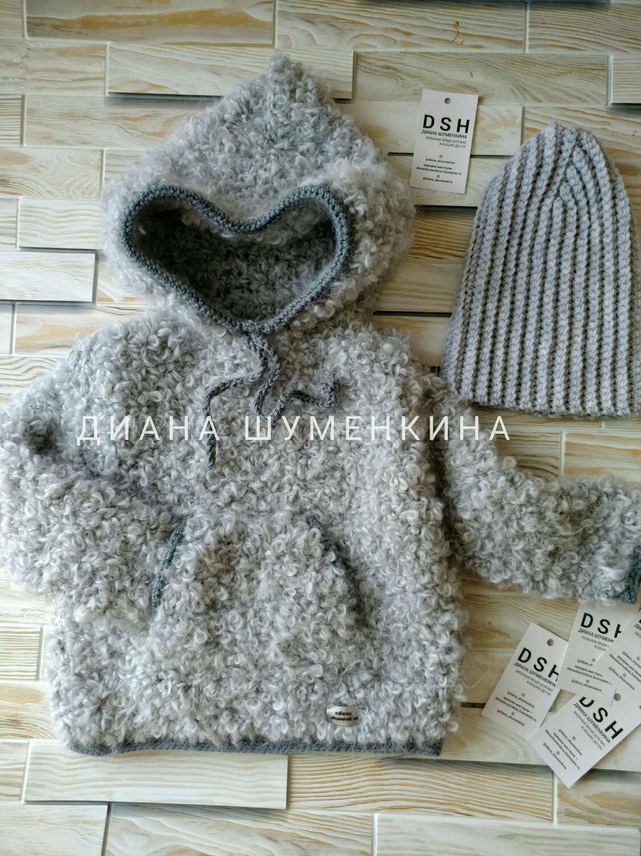 Knitted cardigan hat, Childrens cardigan, Yoshkar-Ola,  Фото №1