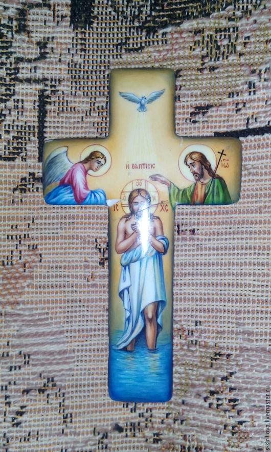 Иконы ручной работы. Ярмарка Мастеров - ручная работа. Купить Кресты нательные ритуальные ростовская финифть. Handmade. Комбинированный, финифть