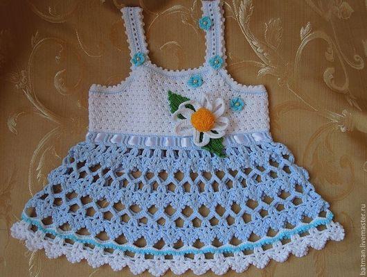 """Одежда для девочек, ручной работы. Ярмарка Мастеров - ручная работа. Купить Топ """"Незабудка"""" для девочки. Handmade. Голубой, топ, для девочки"""
