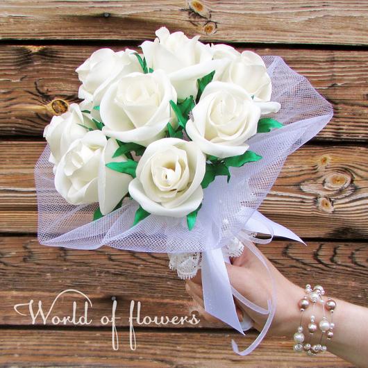 """Свадебные букеты и букеты на заказ из атласных лент. Сохраните самые теплые воспоминания о прекрасных моментах в Вашей жизни!  Сделано с любовью для Вас от магазина бижутерии """"World of flowers""""."""
