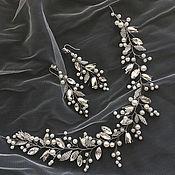 Свадебный салон ручной работы. Ярмарка Мастеров - ручная работа комплект из веточки и сережек. Handmade.