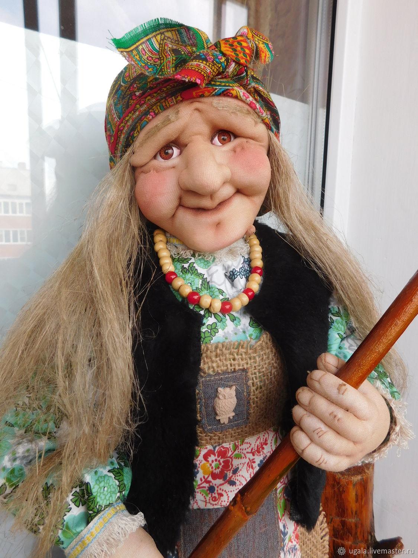 Кукла Баба Яга с метлой, Мягкие игрушки, Рязань,  Фото №1