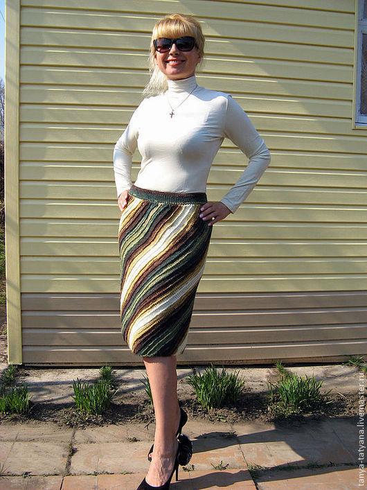 Купить вязаную юбку