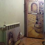 Дизайн и реклама ручной работы. Ярмарка Мастеров - ручная работа Роспись холодильника и батареи. Handmade.