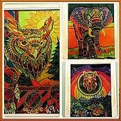 Картины и панно ручной работы. Ярмарка Мастеров - ручная работа тотемные животные - обереги. Handmade.