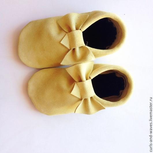 Детская обувь ручной работы. Ярмарка Мастеров - ручная работа. Купить Детские ботиночки. Handmade. Желтый, ботиночки, детская обувь