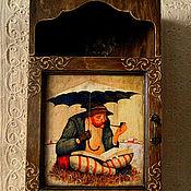 """Для дома и интерьера ручной работы. Ярмарка Мастеров - ручная работа Ключница большая """" Время раздумий """". Handmade."""