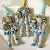 Винтаж ручной работы. Ярмарка Мастеров - ручная работа Винтажные фарфоровые ёлочные игрушки. Handmade.