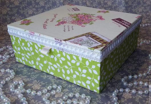 Персональные подарки ручной работы. Ярмарка Мастеров - ручная работа. Купить Шкатулка для украшений. Handmade. Комбинированный, коробка, картон