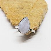Украшения handmade. Livemaster - original item 17.25 R. Ring with blue agate Autumn sky. Handmade.