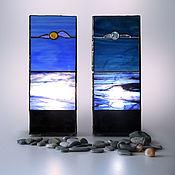 Для дома и интерьера handmade. Livemaster - original item Duet: lamp Sunshine and lamp Moonlight. Stained glass lamp.. Handmade.