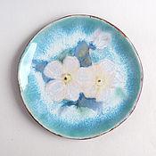 Посуда ручной работы. Ярмарка Мастеров - ручная работа Тарелка «Белая роза». Handmade.