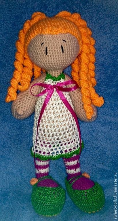 Человечки ручной работы. Ярмарка Мастеров - ручная работа. Купить Вязаная кукла. Handmade. Разноцветный, вязаная кукла, игрушка для ребенка