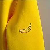 Одежда ручной работы. Ярмарка Мастеров - ручная работа Банановый Фрэш. Свитшот с вышивкой на заказ.. Handmade.