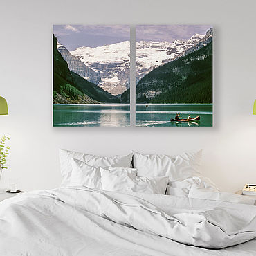 Картины и панно ручной работы. Ярмарка Мастеров - ручная работа Картина на холсте Горное озеро. Handmade.