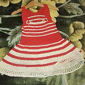 Работы для детей, ручной работы. Ярмарка Мастеров - ручная работа Красный сарафанчик на девочку.. Handmade.