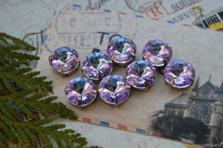 Rivoli 12 mm lilac SUITE, Cabochons, Stavropol,  Фото №1