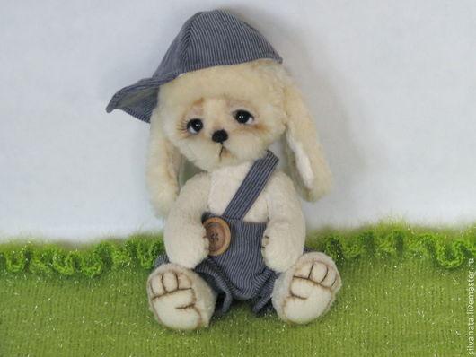 Мишки Тедди ручной работы. Ярмарка Мастеров - ручная работа. Купить Тедди щенок Проша.. Handmade. Белый, щенок тедди