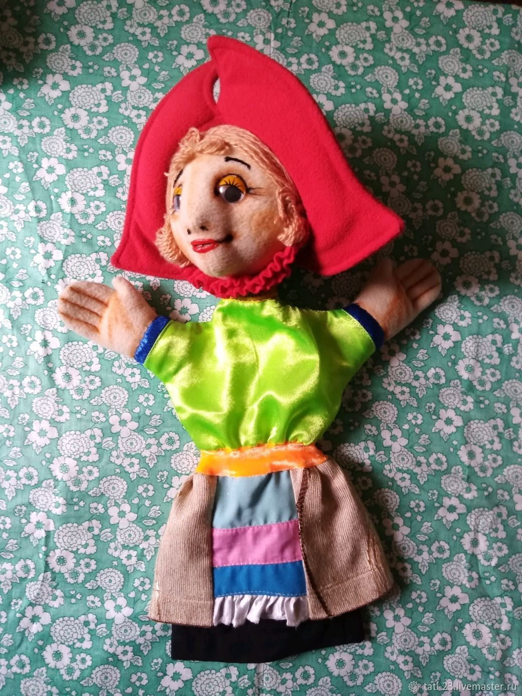 Little red riding hood glove theater doll. For the play, Puppet show, Voronezh,  Фото №1