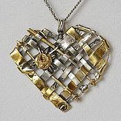 """Украшения ручной работы. Ярмарка Мастеров - ручная работа """"Большое сердце"""" - серебряный кулон. Handmade."""